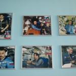 Фотографии космонавтов во время тренировок в ЦПК