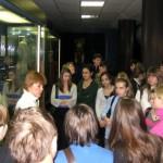 Наша группа во время экскурсии в музее
